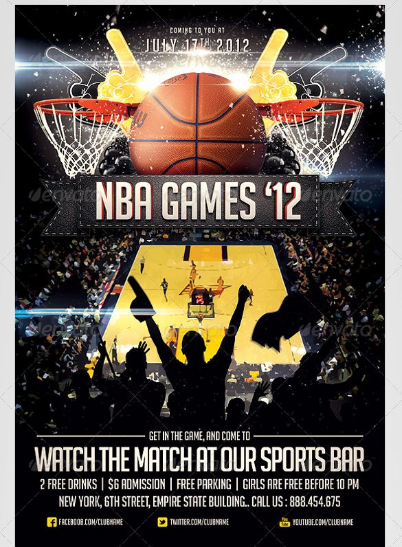Basketball Flyer Template Word Luxury 31 Basketball Flyers Psd Ai Vector Eps
