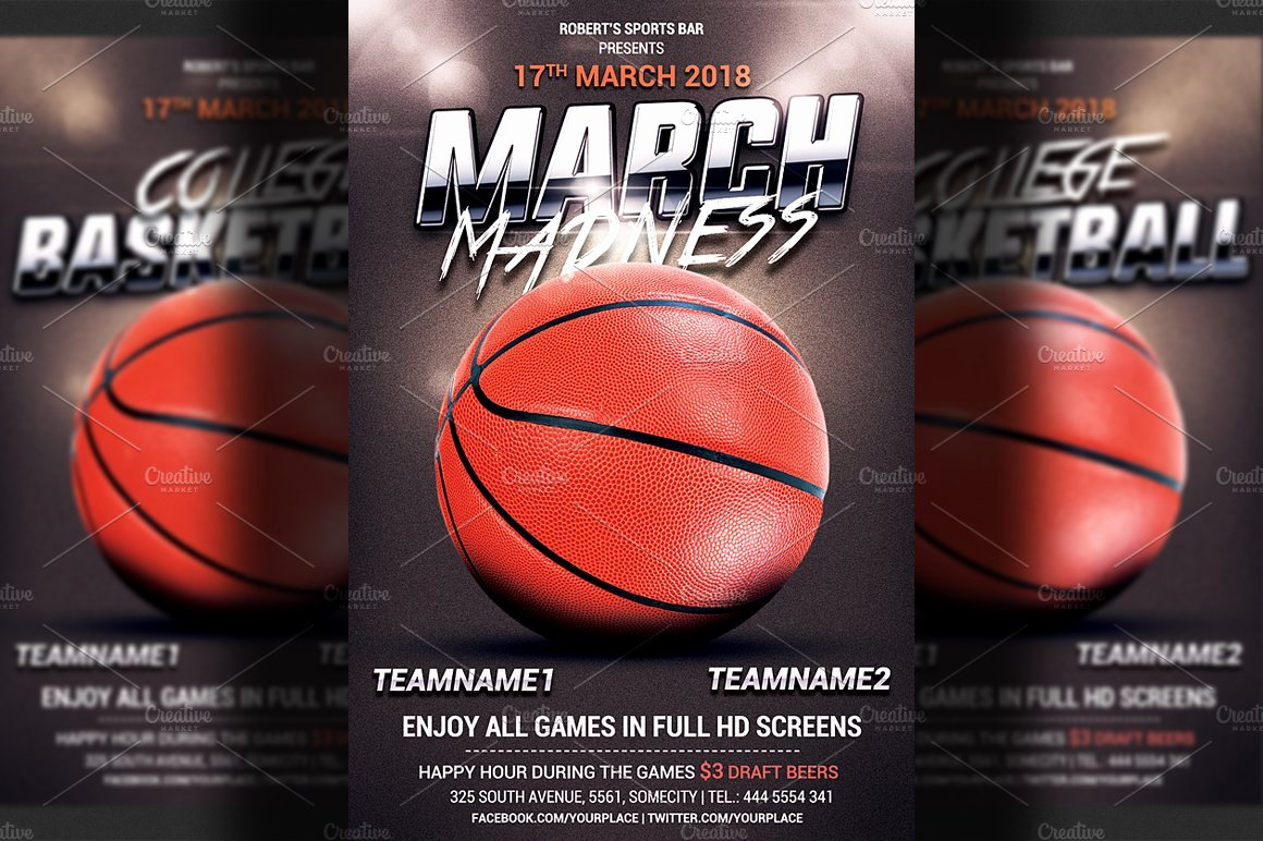 Basketball Flyer Template Word Luxury Basketball Flyer Template Flyer Templates Creative Market