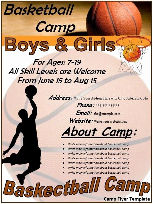 Basketball Flyer Template Word New Basketball Flyer Stationary Templates