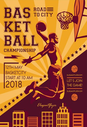 free basketball flyer free flyer psd template cover