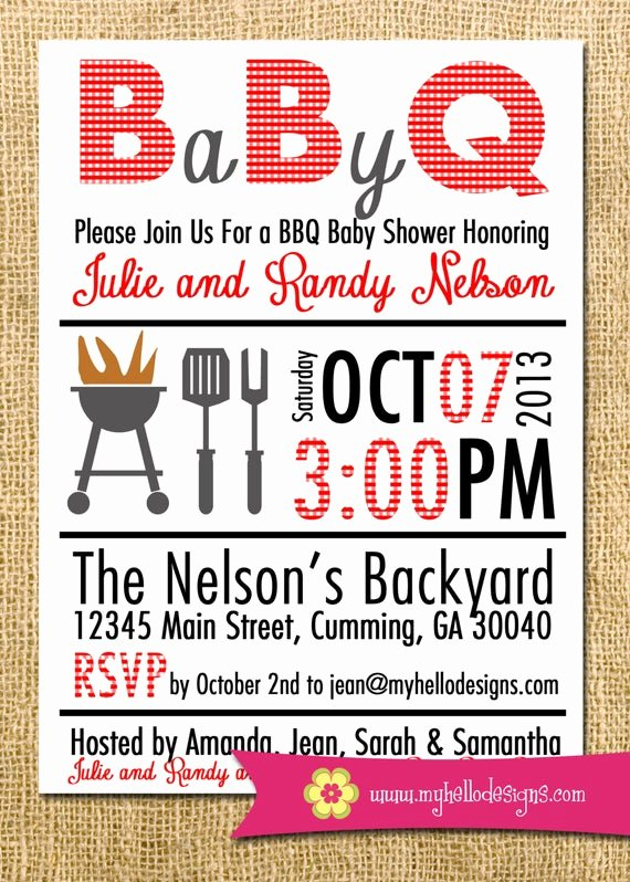 Bbq Party Invitation Wording Awesome Printable Bbq Invitation Any Color Bination Backyard Bbq