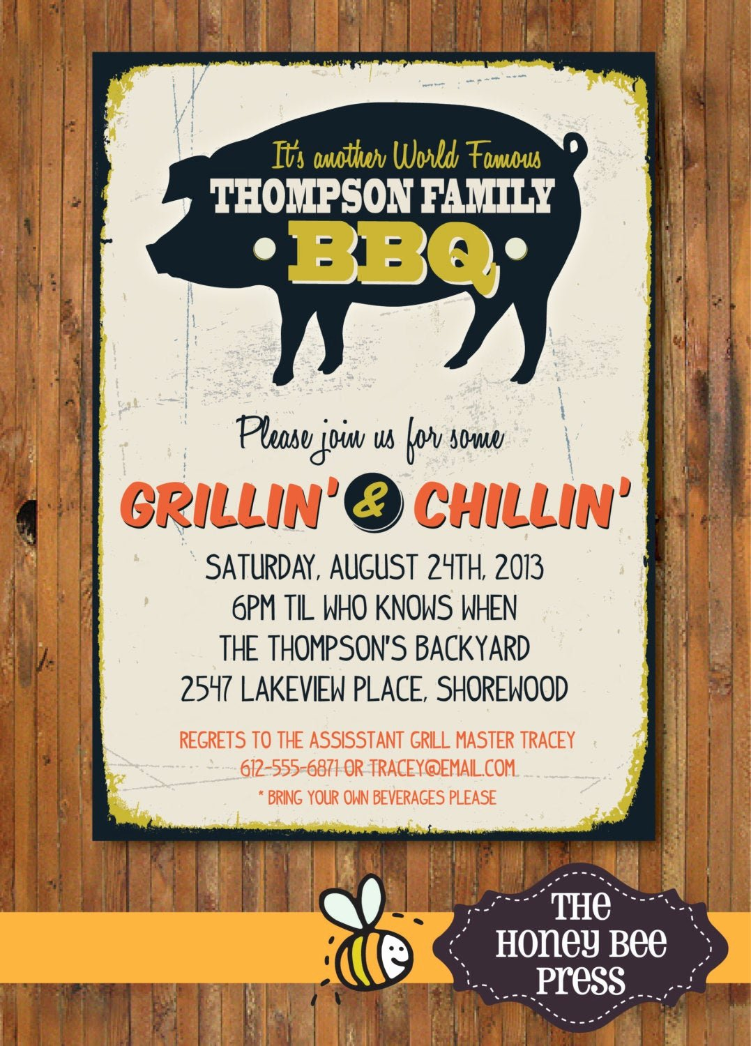 Bbq Party Invitation Wording Beautiful Back Yard Bbq Party Invitation Pig Roast Memorial Day