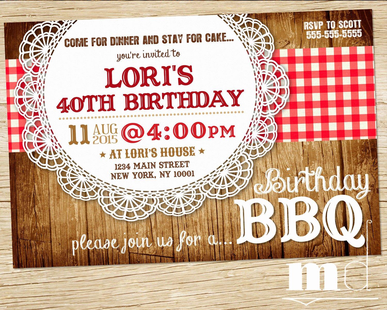 Bbq Party Invitation Wording Beautiful Bbq Birthday Invite Barbecue Birthday Invitation Picnic