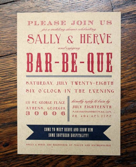 Bbq Party Invitation Wording Beautiful Engagement or Wedding Shower Invitation Bbq