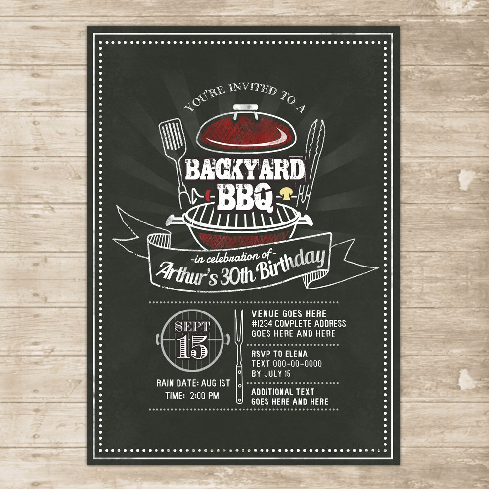 Bbq Party Invitation Wording Fresh Backyard Bbq Invitation Grill Cookout Invite Family Picnic