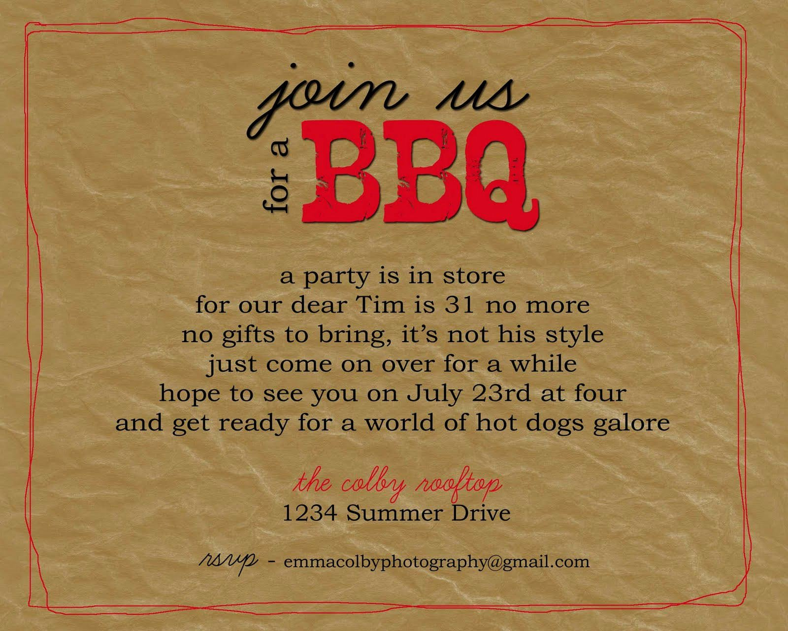 Bbq Party Invitation Wording Fresh Bbq Party Invitation Wording