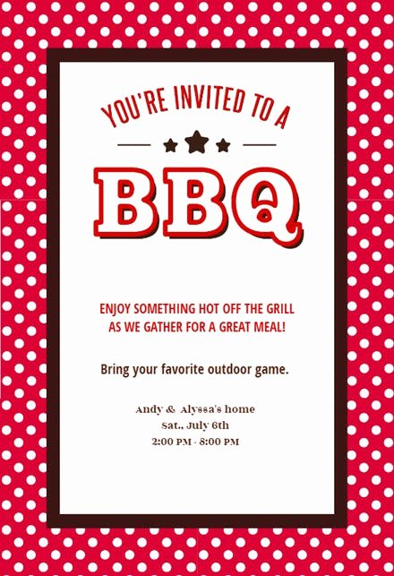 Bbq Party Invitation Wording Inspirational Bbq Party Invitation & Flyer Templates Free