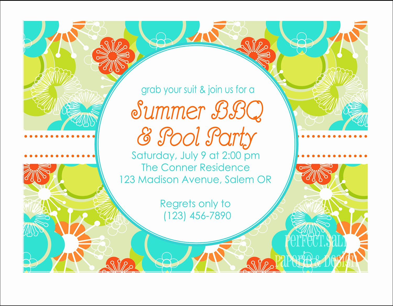 Bbq Party Invitation Wording Inspirational Printable Summer Party Invitation Pool Party