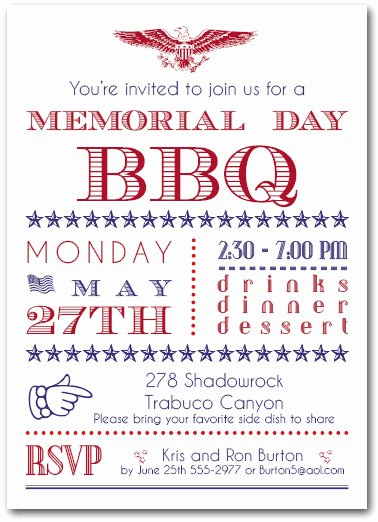Bbq Party Invitation Wording Lovely Memorial Day Bbq Party Invitations