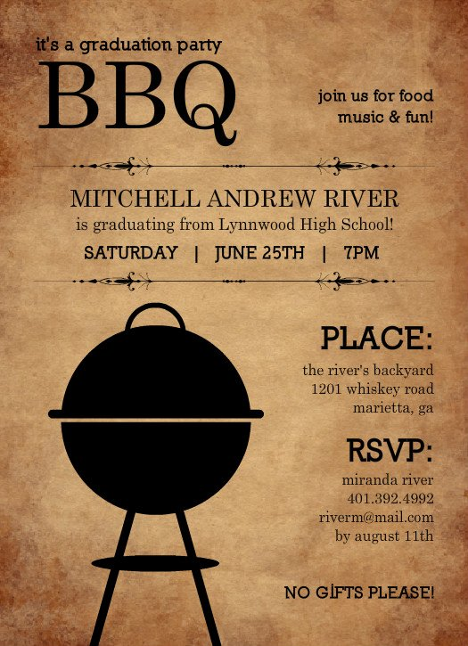 Bbq Party Invitation Wording Lovely Outdoor Graduation Party Ideas Bbq Picnic Luau Invitaitons