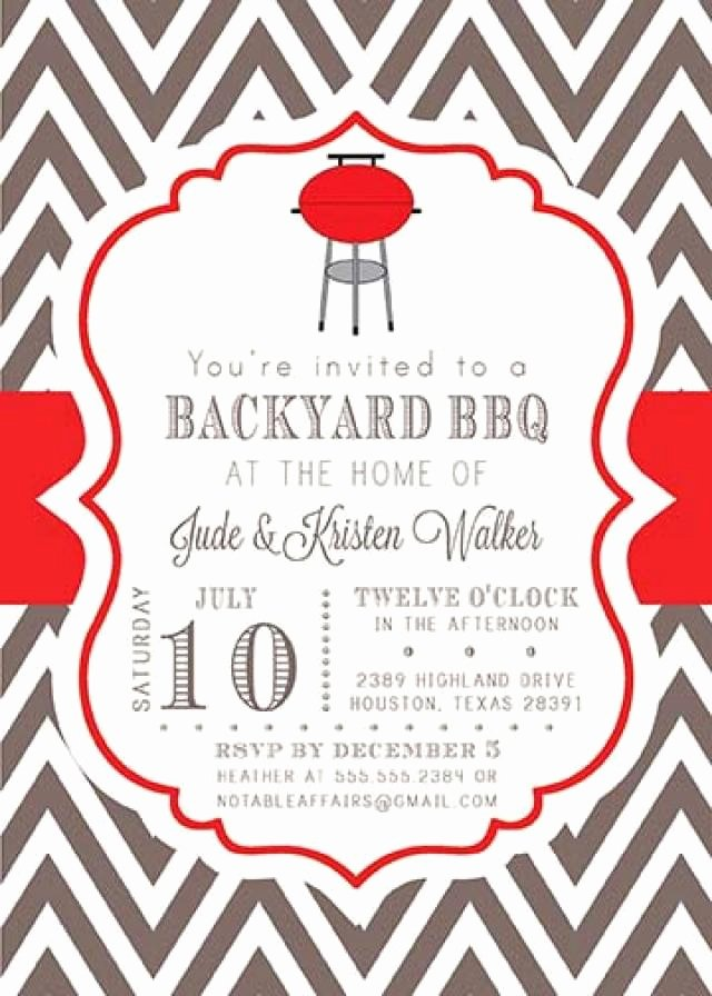 Bbq Party Invitation Wording Luxury Bbq Barbecue Backyard Party Celebration Couples Shower