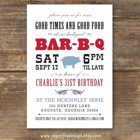 Bbq Party Invitation Wording Luxury Bbq Invitation Printable Modern Western