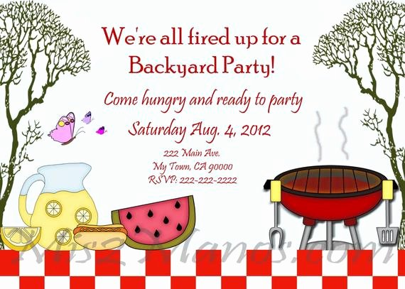 Bbq Party Invitation Wording New Bbq Invitations Diy Printable Barbecue Party Invites