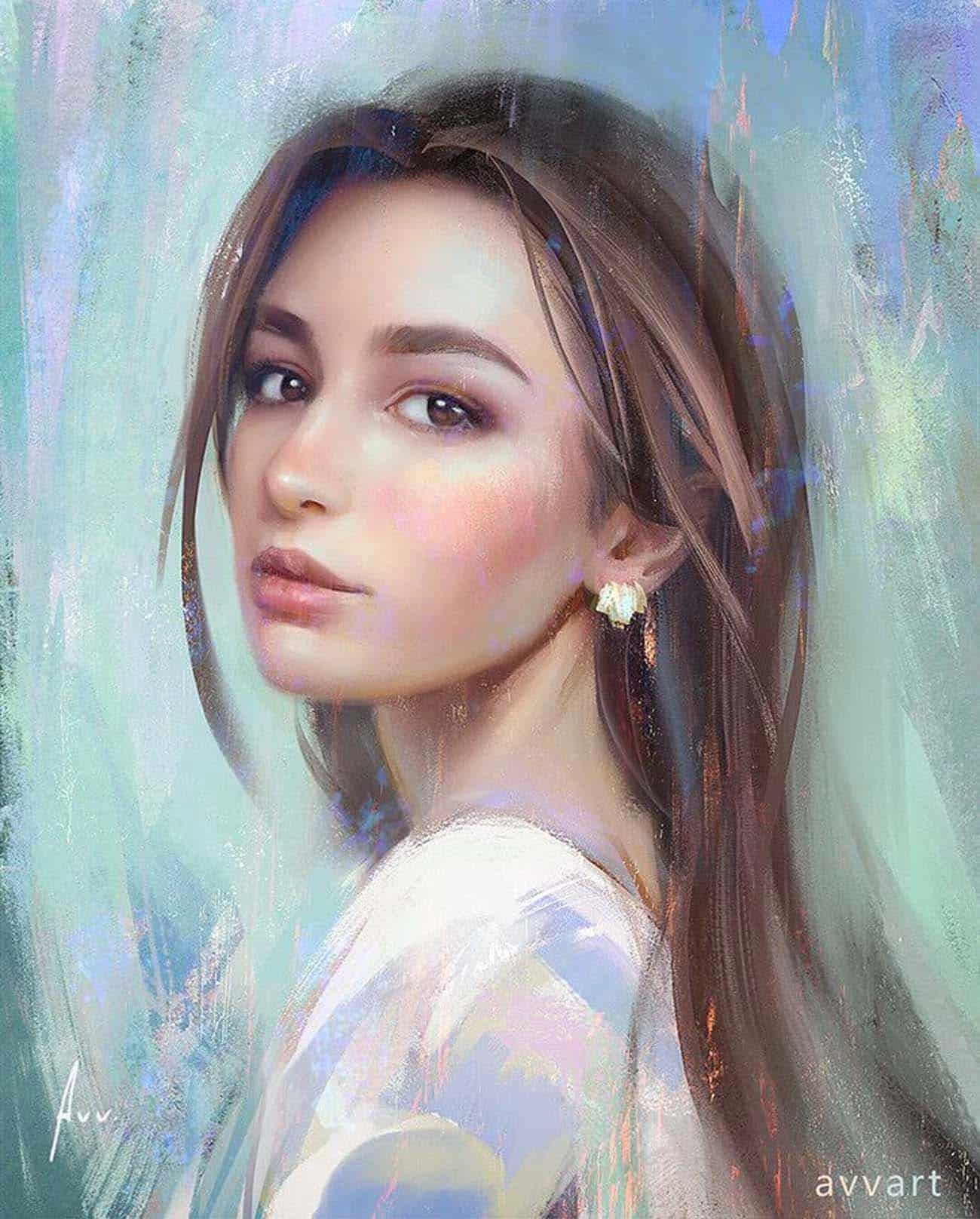 Beautiful Woman Painting Images Beautiful Digital Painting Inspiration 029 Paintable