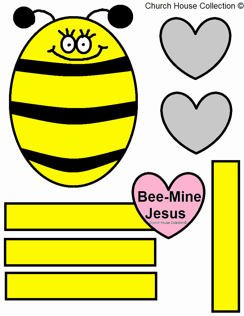 Bee Cut Out Template Awesome Church House Collection Blog Bee Mine Jesus Bulletin
