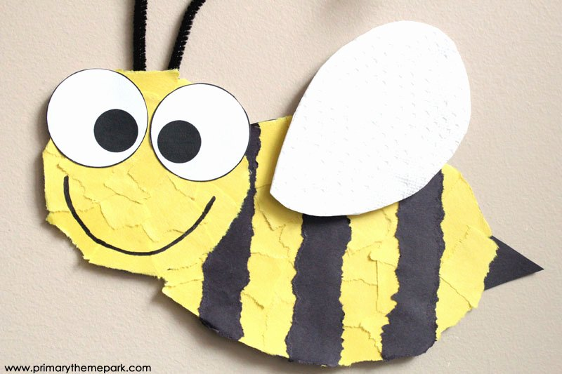 Bee Cut Out Template Beautiful Bee Craft Template Primary theme Park