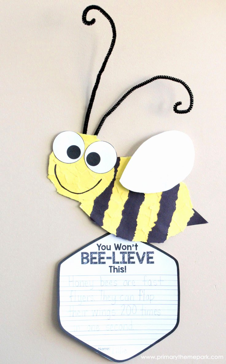 Bee Cut Out Template Elegant Bee Craft Template Primary theme Park