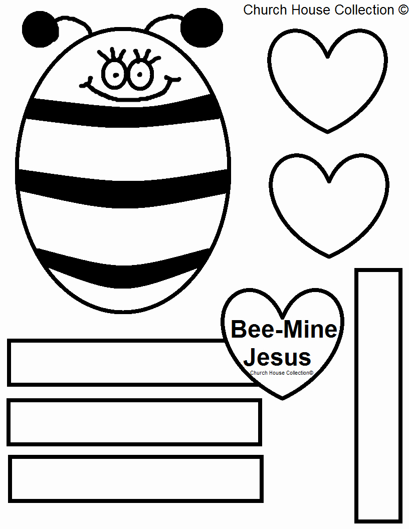 Bee Cut Out Template Elegant Church House Collection Blog Bee Mine Jesus Bulletin