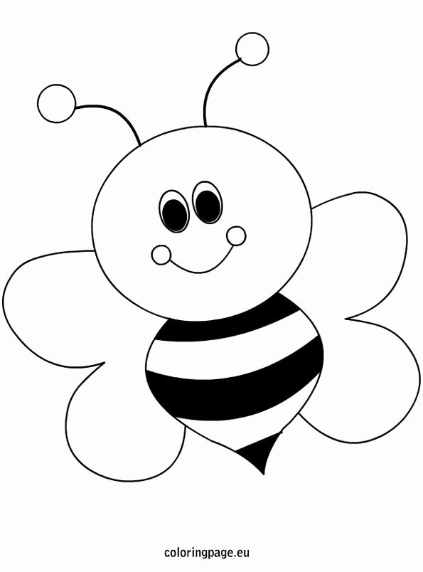 Bee Cut Out Template Fresh Bee Coloring Page