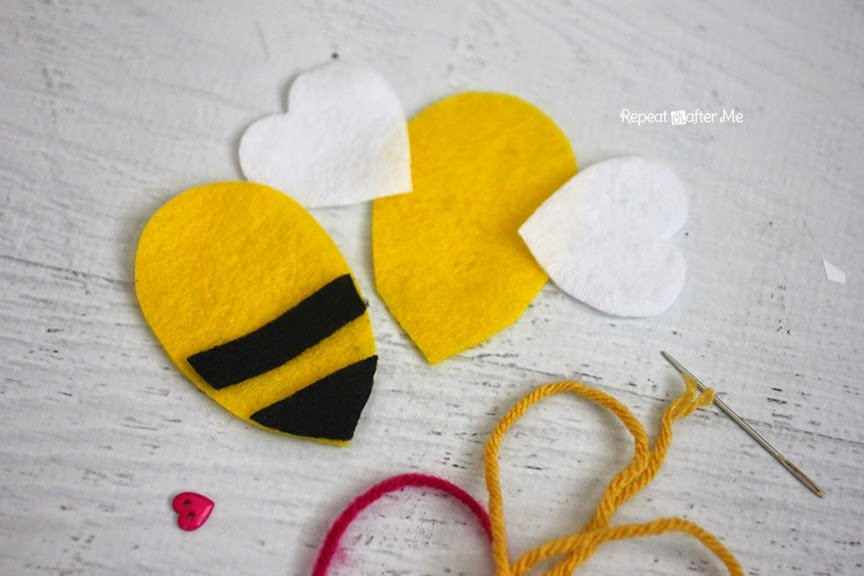 Bee Cut Out Template Lovely Felt Bumble Bee Keychain Repeat Crafter Me