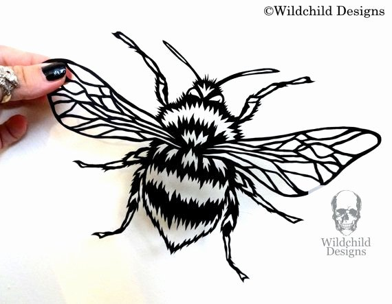 Bee Cut Out Template Luxury Bumble Bee Papercutting Template Vinyl Template Svg