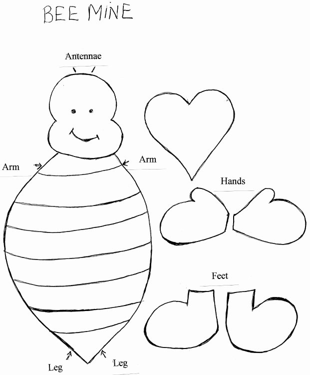 Bee Cut Out Template Unique Bee Mine Valentine Template