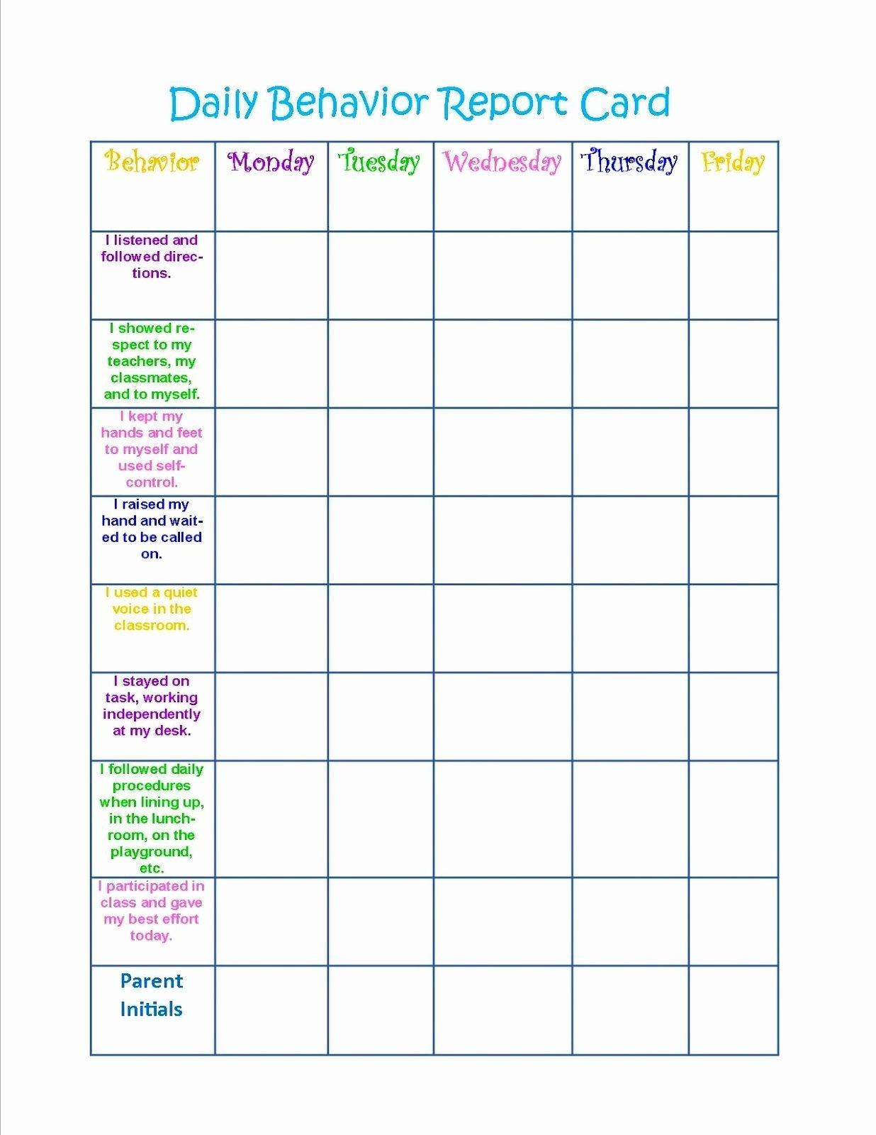Behavior Charts for Home Unique Behavior Charts Printable for Kids