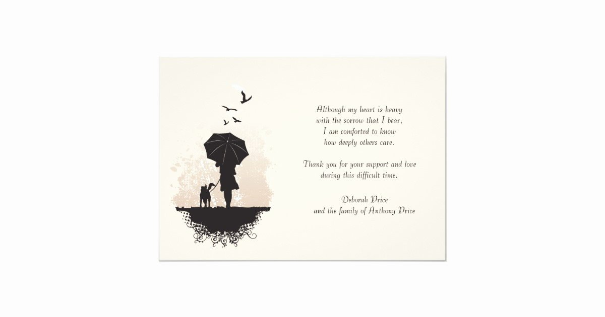 Bereavement Thank You Letter Awesome A Walk In the Rain Bereavement Thank You Note Card