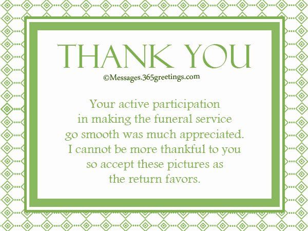 Bereavement Thank You Letter Best Of Funeral Thank You Notes 365greetings