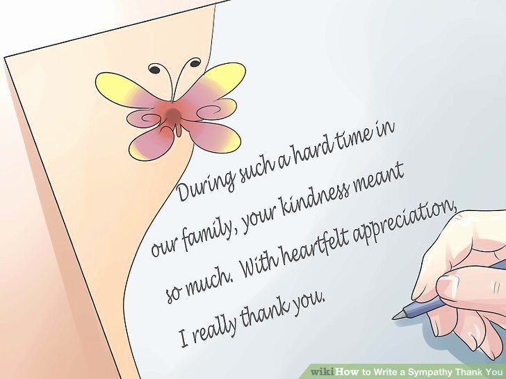 Bereavement Thank You Letter Inspirational How to Write A Sympathy Thank You with Examples Wikihow