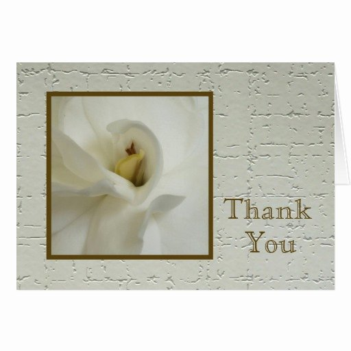 Bereavement Thank You Letter Lovely Sympathy Thank You Note Card Gardenia