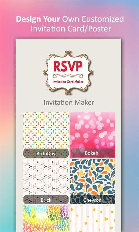 Best App to Create Invitations Best Of Invitation Maker Rsvp Maker for Windows 10 Free