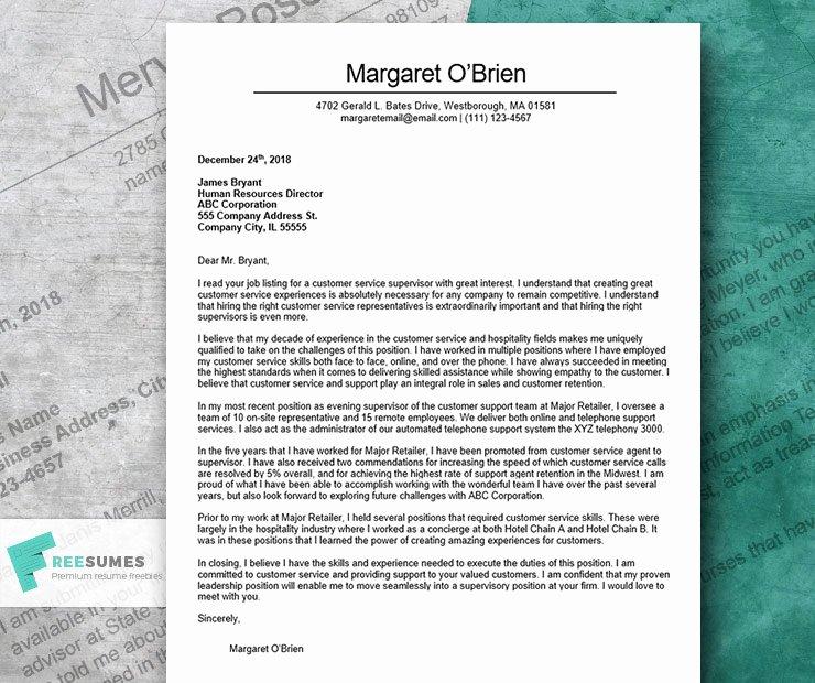 Best Customer Service Cover Letter Lovely the Finest Cover Letter Example for Customer Service