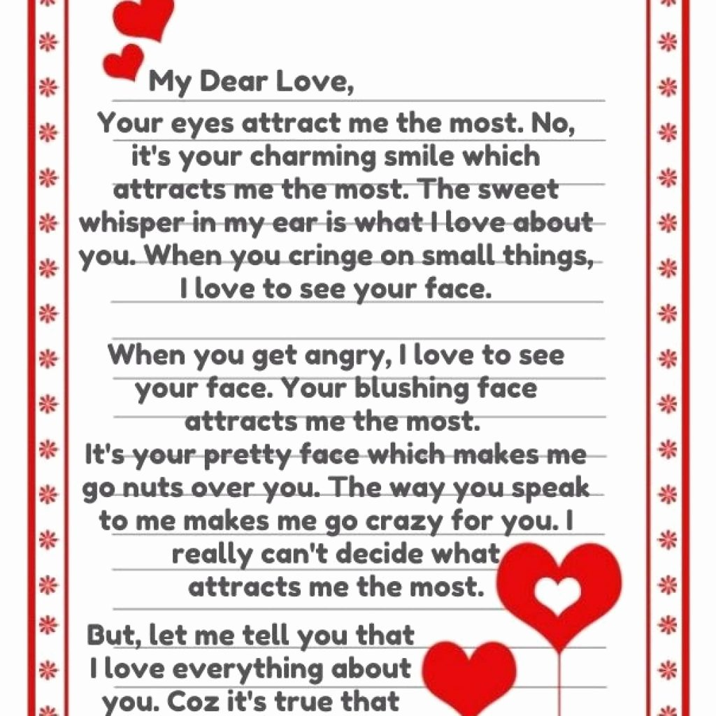 Best Love Letters for Him Best Of 5 6 Sweetest Letters