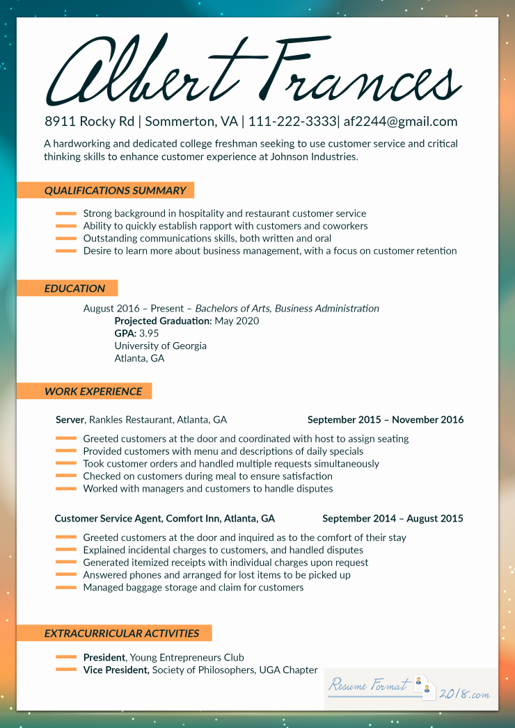 Best Resume format Best Of Make Use Of the Best Resume format 2018 for Fresher