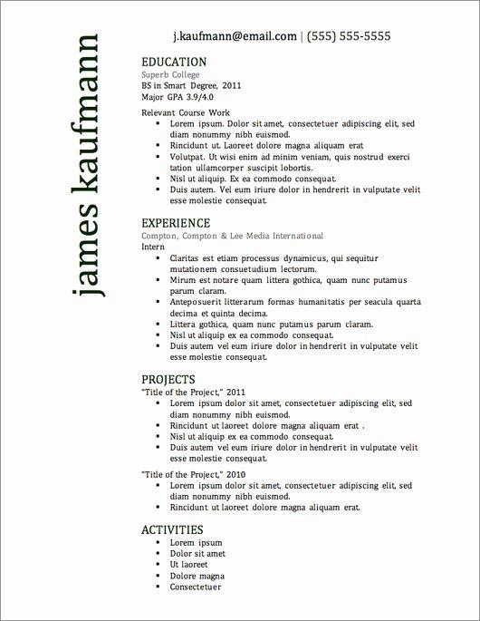 Best Resume format Elegant 12 Resume Templates for Microsoft Word Free Download