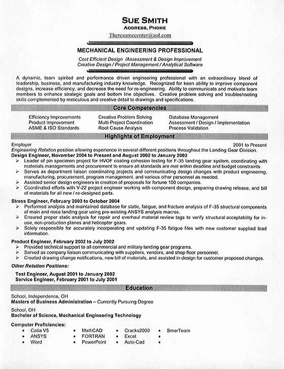 Best Resume format for Engineers Beautiful Mechanical Engineering Resume Example