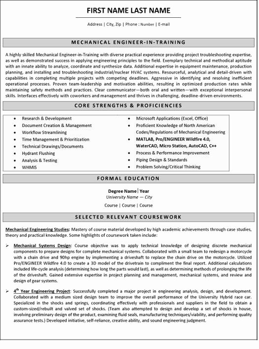 Best Resume format for Engineers Inspirational 10 Best Best Mechanical Engineer Resume Templates