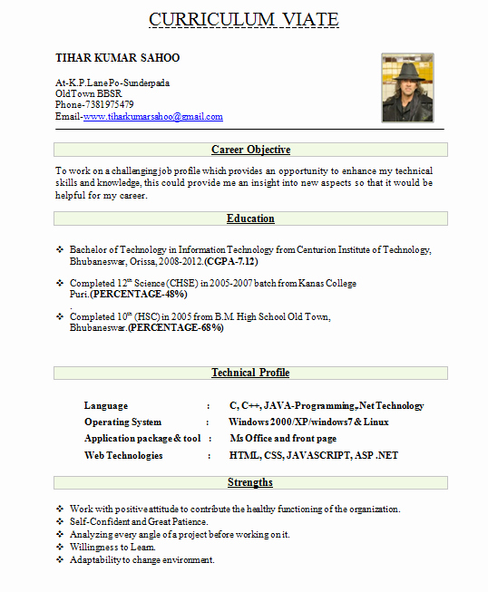 Best Resume format for Engineers Lovely 10 Fresher Resume Templates Download Pdf