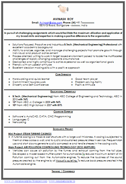 Best Resume format for Engineers Luxury Professional Curriculum Vitae Sample Template Of A Fresher