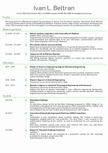 Best Resume format for Engineers Unique Engineering Resume Samples From Real Professionals who Got