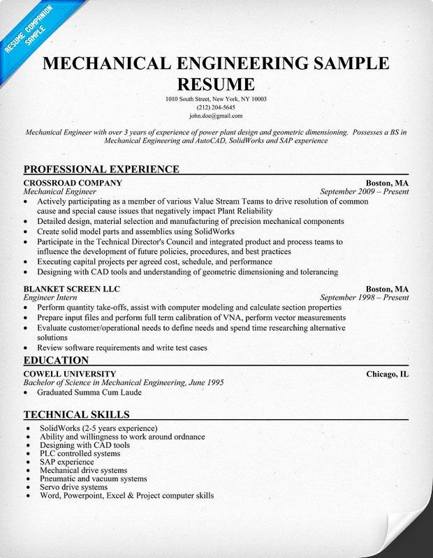 Best Resume format for Engineers Unique Mechanical Engineering Resume Sample Resume Panion