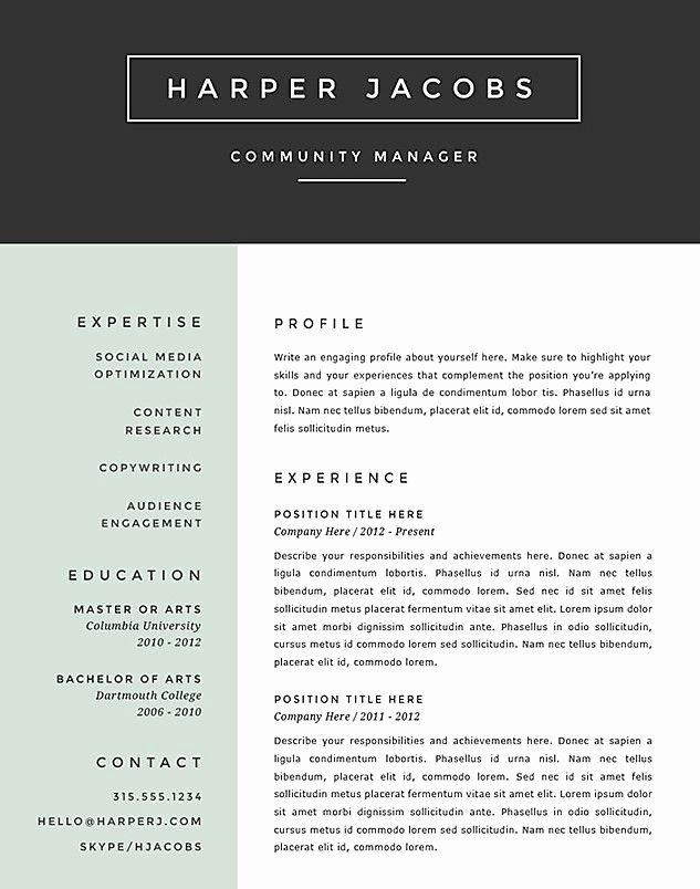 Best Resume format New 7 Best Resume Templates Images On Pinterest