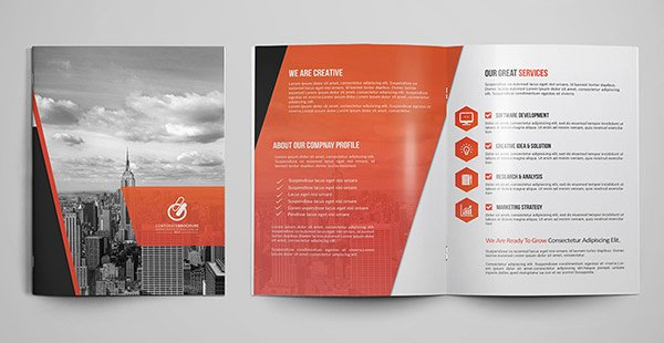 Bi Fold Pamphlet Template Elegant 30 Really Beautiful Brochure Designs & Templates for