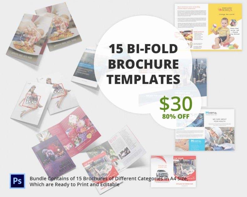Bi Fold Pamphlet Template Elegant Printable Bi Fold Brochure Template – 67 Free Word Psd