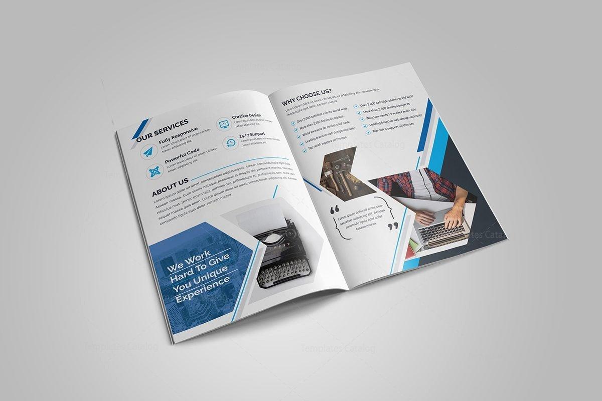 Bi Fold Pamphlet Template Elegant Sapphire Bi Fold Brochure Template Template Catalog