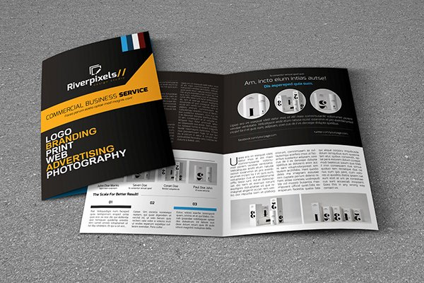 Bi Fold Pamphlet Template Lovely Modern A4 Bi Fold Brochure Template On Behance