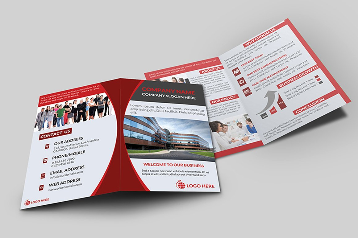 Bi Fold Pamphlet Template Luxury Corporate Bi Fold Brochure V 1 Brochure Templates On