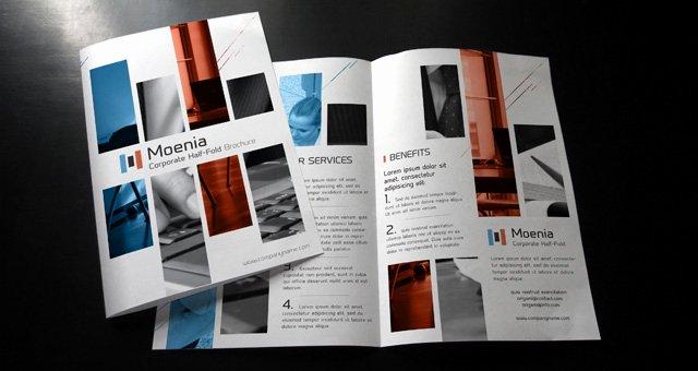 Bi Fold Pamphlet Template Luxury Moenia Bi Fold Brochure Template