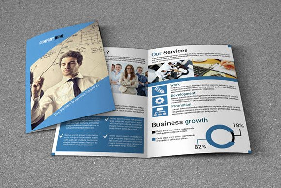 Bi Fold Pamphlet Template Unique Bi Fold Brochure Template V20 Brochure Templates On